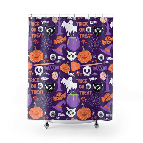 Halloween Scary Shower Curtain-Home Decor-famenxt