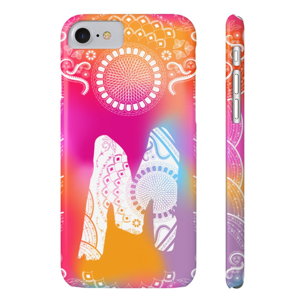 Monogram Collection- Boho- Choose your initial M iPhone Case Phone Cases-Phone Case-famenxt