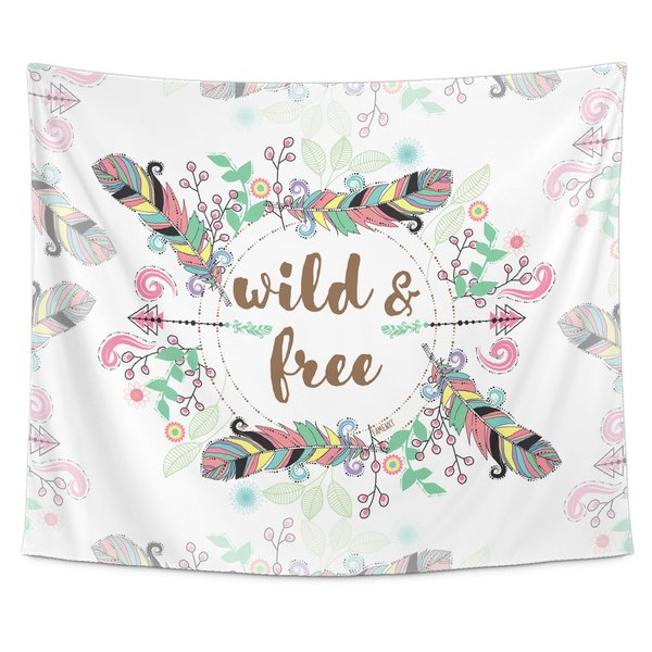 Wild and Free Tapestry Wall Hang-Tapestries-famenxt
