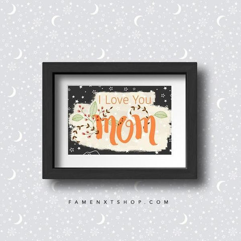 Printable for Mom, Instant download, Mother's day special, I love you mom-Calendar Digital Download-famenxt