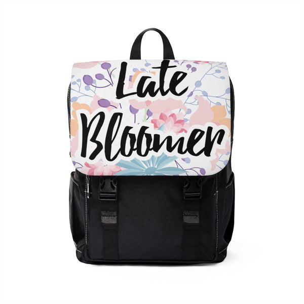 Late Bloomer Unisex Casual Shoulder Backpack-Bags-famenxt