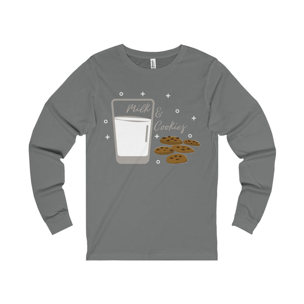 Milk and Cookies Unisex Jersey Long Sleeve Tee-Long-sleeve-famenxt