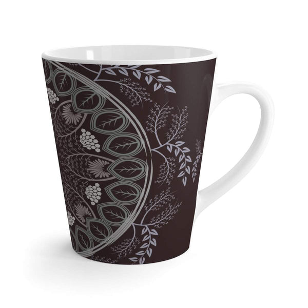 Mandala Chocolate Brown Latte mug-Mug-famenxt