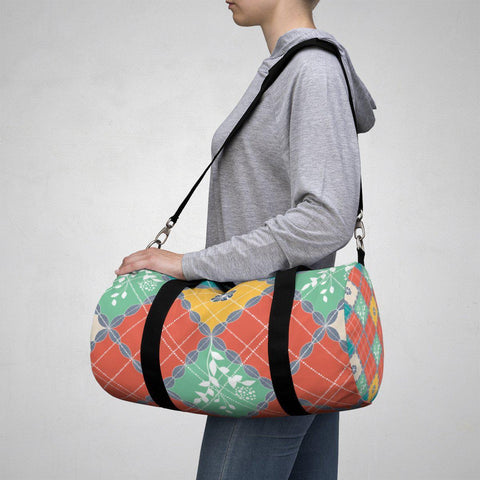 Coral Sea Blue Pattern Duffle Bag-Bags-famenxt