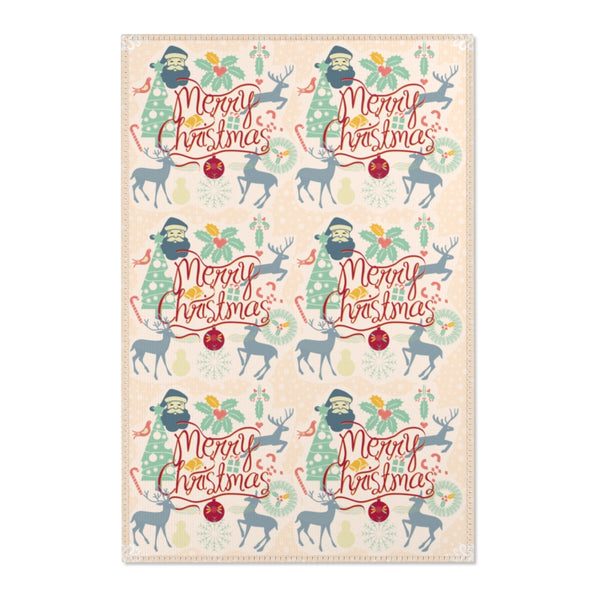 Merry Christmas Decorative Area Rugs 2x3, 3x5, 4x6-Home Decor-famenxt