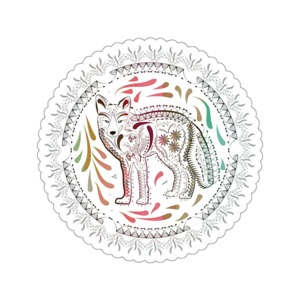 Ornate Fox Stickers-Paper products-famenxt