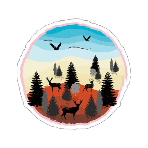 Beautiful Landscape Stickers-Paper products-famenxt