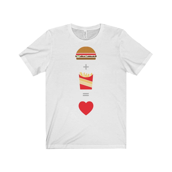 Burger and Fries Unisex Jersey Short Sleeve Tee-T-Shirt-famenxt