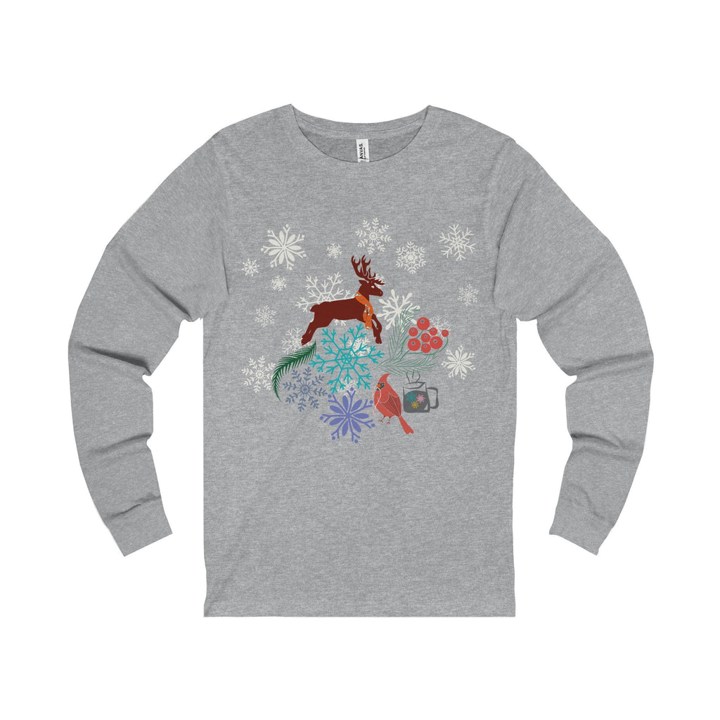 Christmas Vibes Unisex Jersey Long Sleeve Tee-Long-sleeve-famenxt