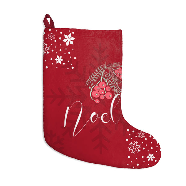 Noel Christmas Stocking Double Sided Printed Red Front Green Back-Home Decor-famenxt