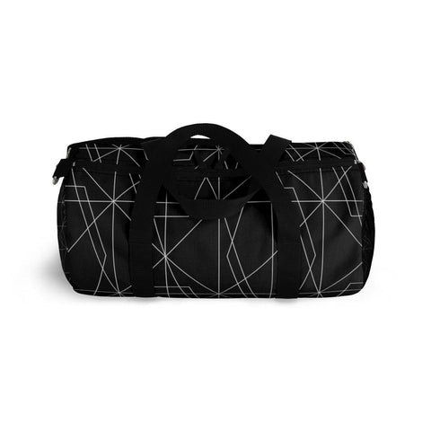 Black Geometric Abstract Duffle Bag-Bags-famenxt