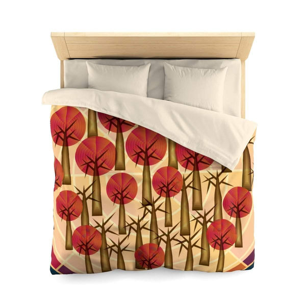 Trees and Wood Microfiber Duvet Cover-Home Decor-famenxt