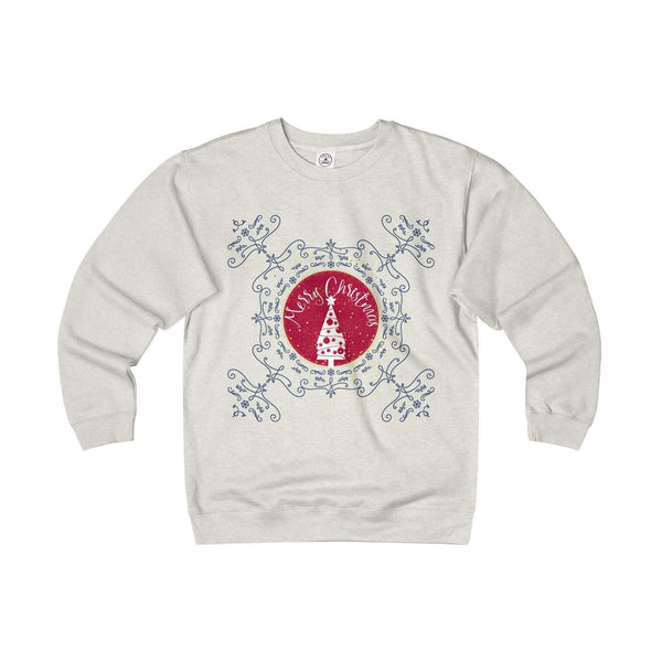 Christmas Sweater Merry Xmas Adult Unisex Heavyweight Fleece Crew-Sweatshirt-famenxt