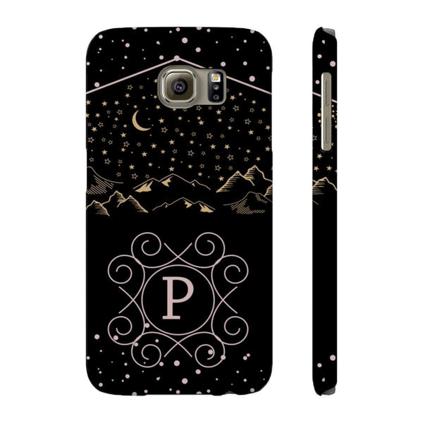 Monogram Collection- Starry Night- Choose your initial P Phone Case-Phone Case-famenxt