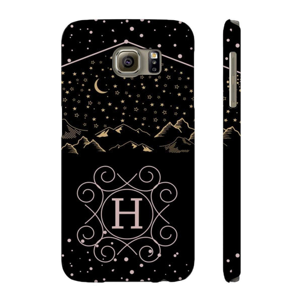 Monogram Collection- Starry Night- Choose your initial H Phone Case-Phone Case-famenxt