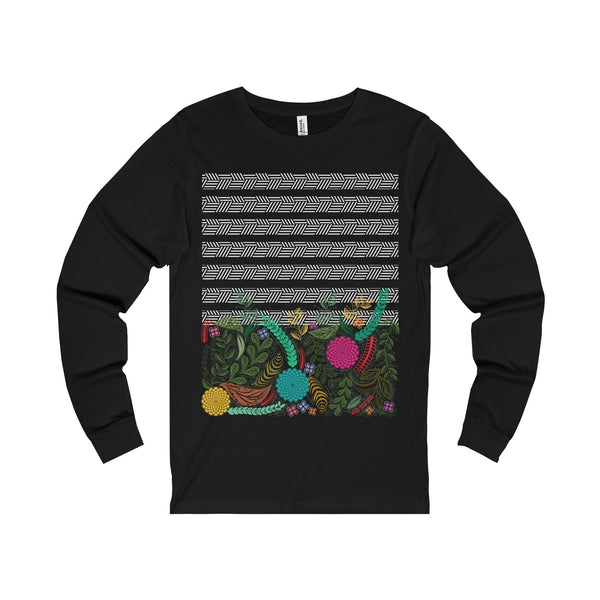 Floral Unisex Jersey Long Sleeve Tee-Long-sleeve-famenxt