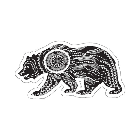 Ornate Bear Stickers - famenxtshop