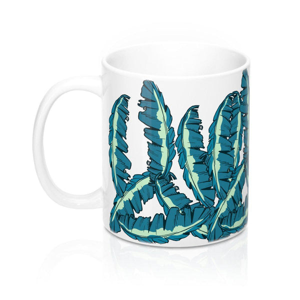Banana Leaves Mug 11oz-Mug-famenxt