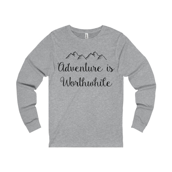 Adventure is Worthwhile Unisex Jersey Long Sleeve Tee-Long-sleeve-famenxt
