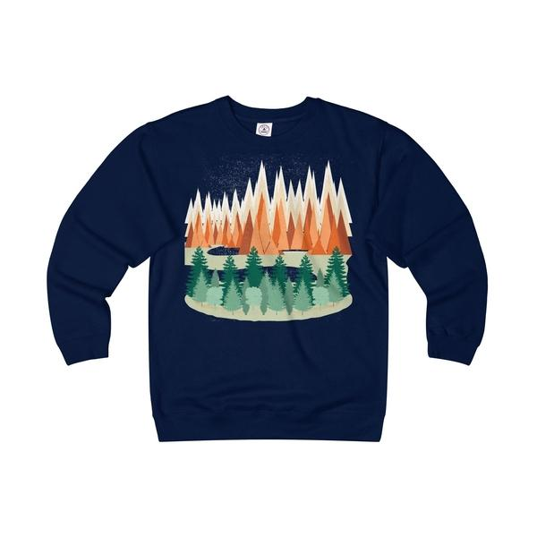 The Mountains Are Calling Unisex Heavyweight/Lightweight Fleece Crew-Sweatshirt-famenxt