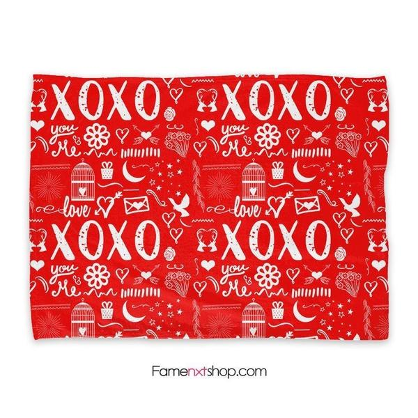 Xoxo hugs and kisses Throw Blanket-Throw Blanket-famenxt