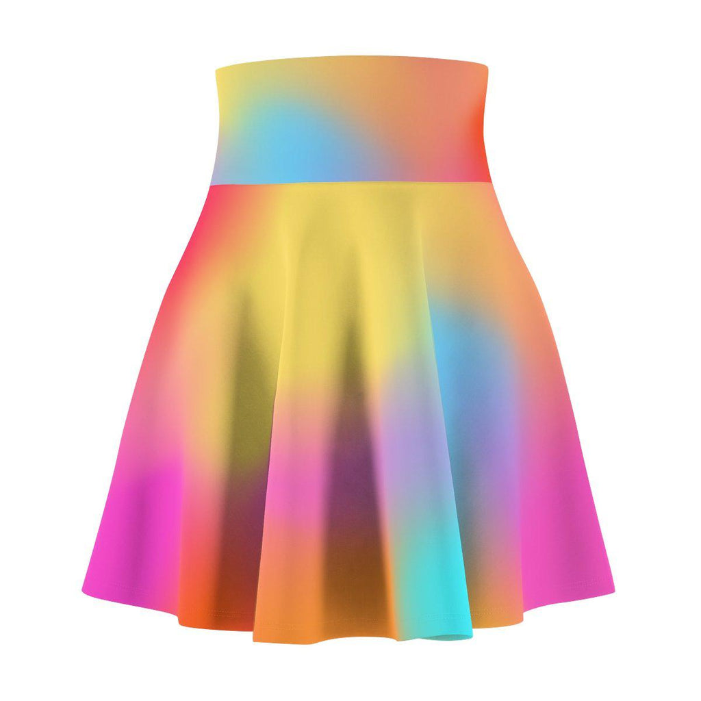Color Mesh Women's Skater Skirt-All Over Prints-famenxt