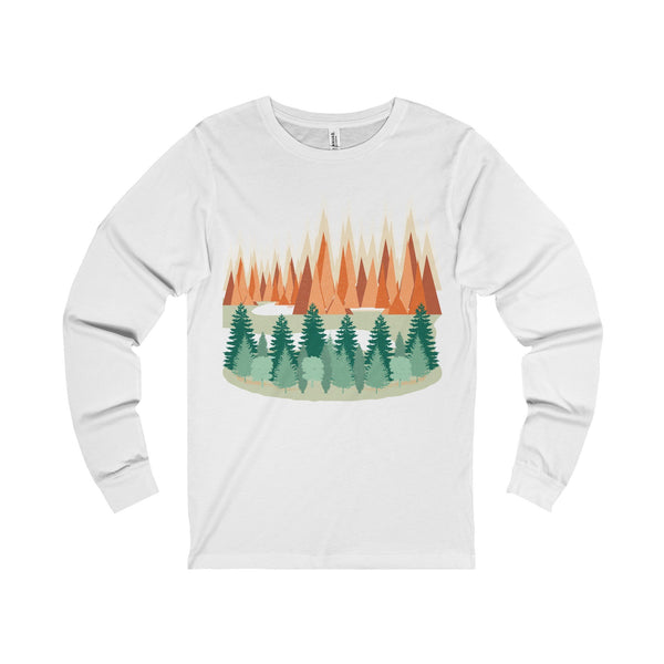The Mountains Unisex Jersey Long Sleeve Tee-Long-sleeve-famenxt