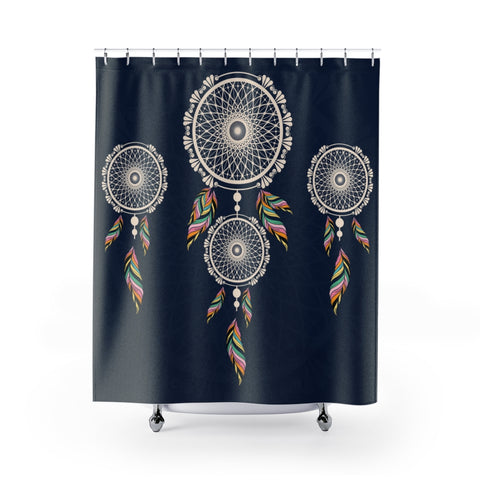 Dream Catcher Blue Shower Curtain-Home Decor-famenxt
