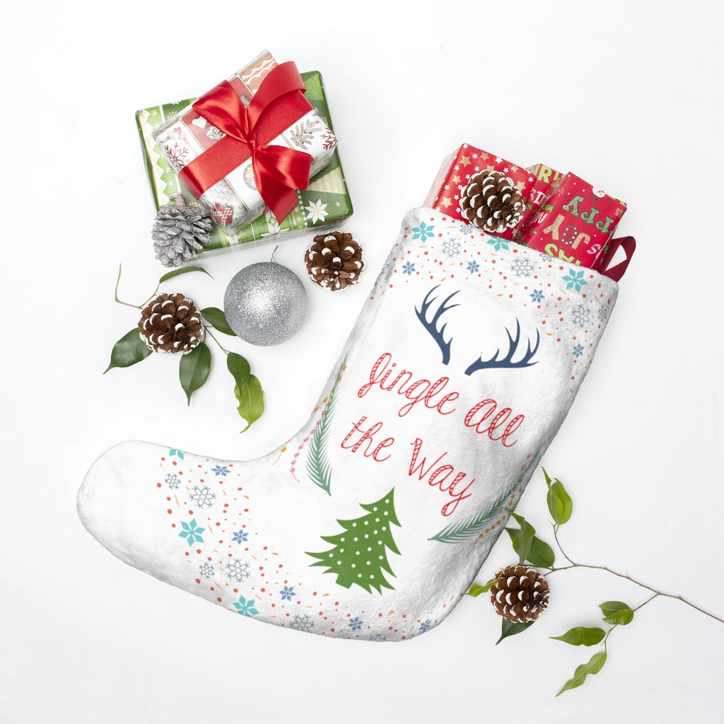 Jingle All the Way Christmas Stocking Double Sided Printed-Home Decor-famenxt