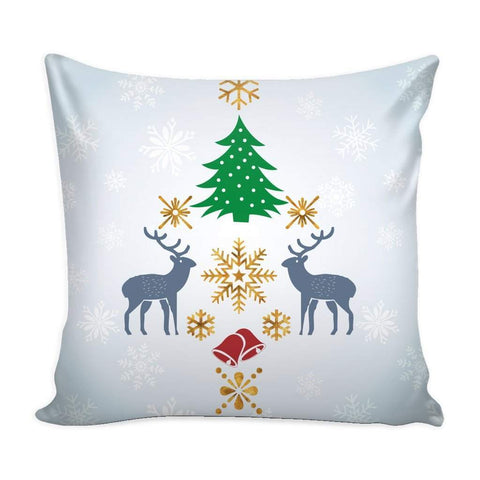 Christmas Decorative Throw Pillow Case with White Back-Pillows-famenxt