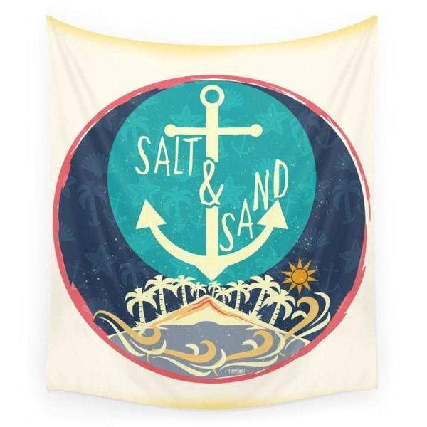 Beach Sand and Salt Wall Tapestry-Wall Tapestry-famenxt