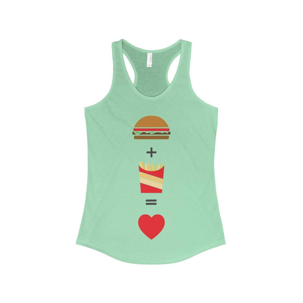Burger and Fries Women's Ideal Racerback Tank-Tank Top-famenxt