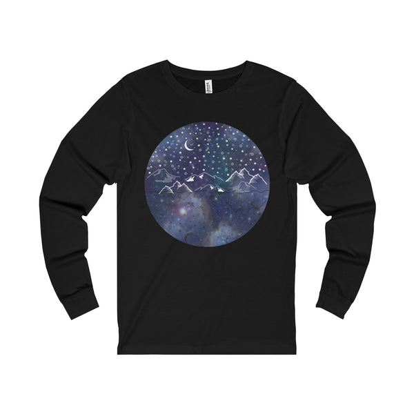 Beautiful Starry Night Unisex Jersey Long Sleeve Tee - famenxtshop