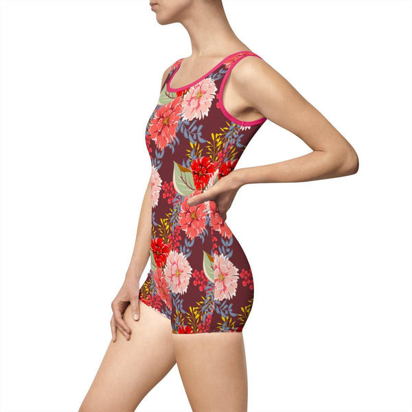 Peonies Women's Vintage Swimsuit-All Over Prints-famenxt