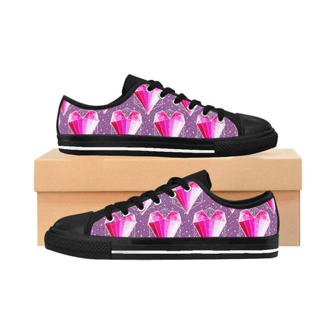 Crystal Hearts Women's Sneakers - famenxtshop
