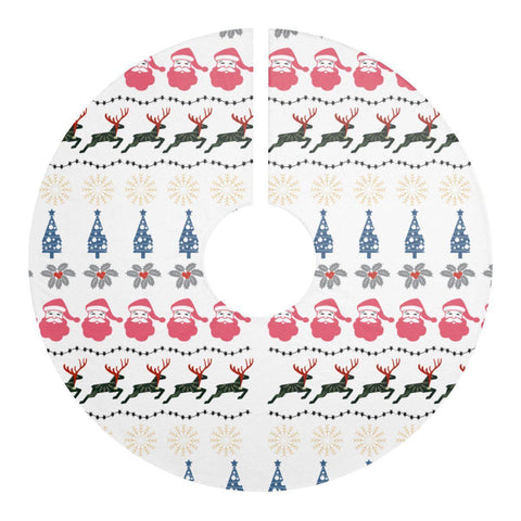 "Holy Christmas Pattern 44"" Christmas Tree Skirt White Christmas Decor-Home Decor-famenxt"