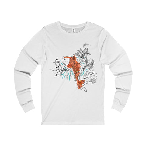Koi Unisex Jersey Long Sleeve Tee-Long-sleeve-famenxt