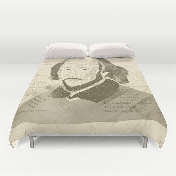William Shakespeare Vintage Duvet Cover-Duvet Cover-famenxt