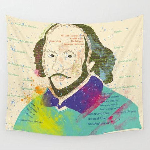 Shakespeare Wall Tapestry-Wall Tapestry-famenxt
