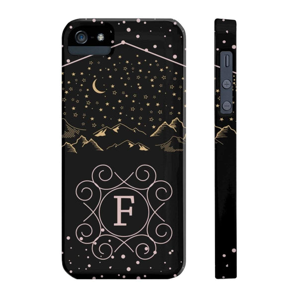 Monogram Collection- Starry Night- Choose your initial F Phone Case-Phone Case-famenxt