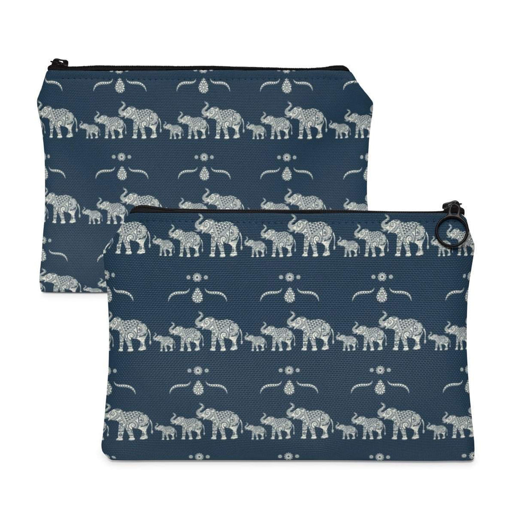 Ornate Elephant Pattern Accessory Pouch-accessory pouches-famenxt