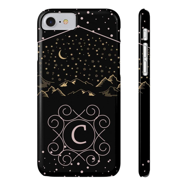 Monogram Collection- Starry Night- Choose your initial C Phone Case-Phone Case-famenxt