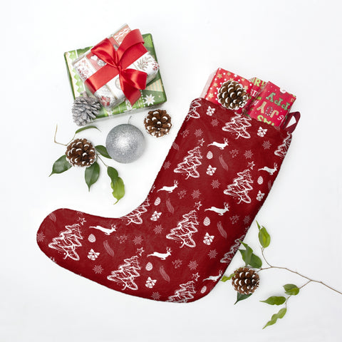 Joy Christmas Pattern Christmas Stocking Double Sided Printed-Home Decor-famenxt