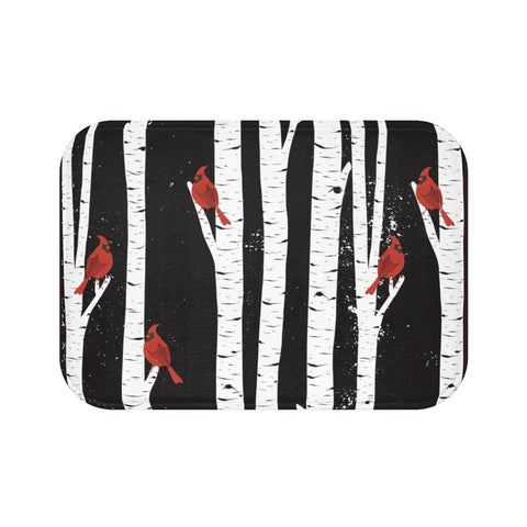 Northern Cardinal Birds Bath Mat-Home Decor-famenxt