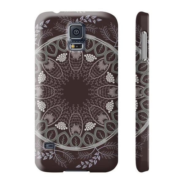 Chocolate Mandala Tough and Slim Phone cases-Phone Case-famenxt