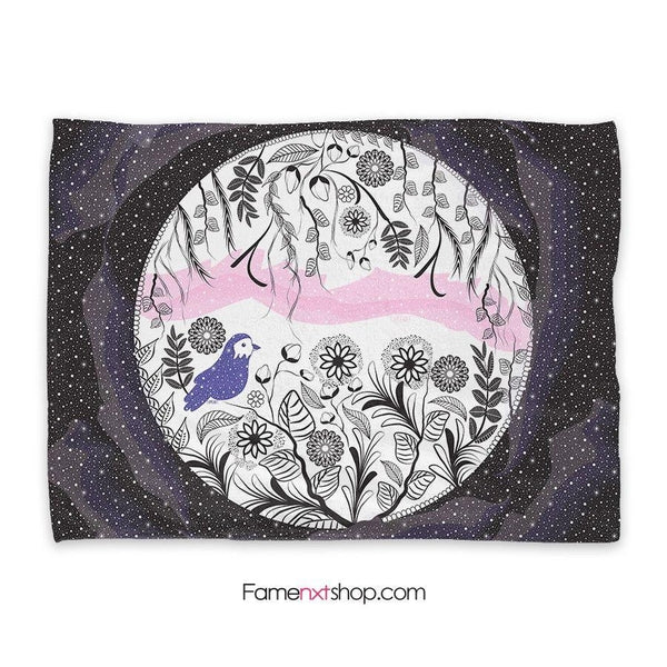 Nature in space Throw Blanket-Throw Blanket-famenxt