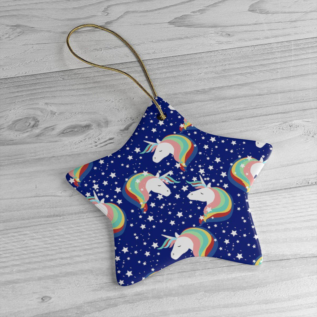 Unicorn Ceramic Ornaments in Four Unique Shapes-Home Decor-famenxt