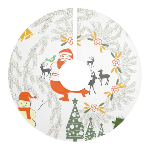 "Joyous Christmas White 44"" Christmas Tree Skirt-Home Decor-famenxt"