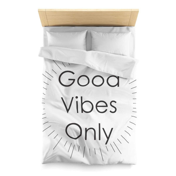 Minimal Good Vibes Only Microfiber Duvet Cover-Home Decor-famenxt