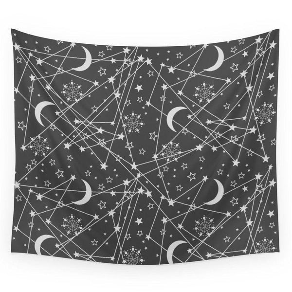 Sun moon stars space Wall Tapestry-Wall Tapestry-famenxt